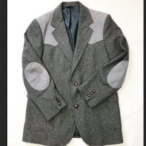 Pendleton Tweed Suede Blazer